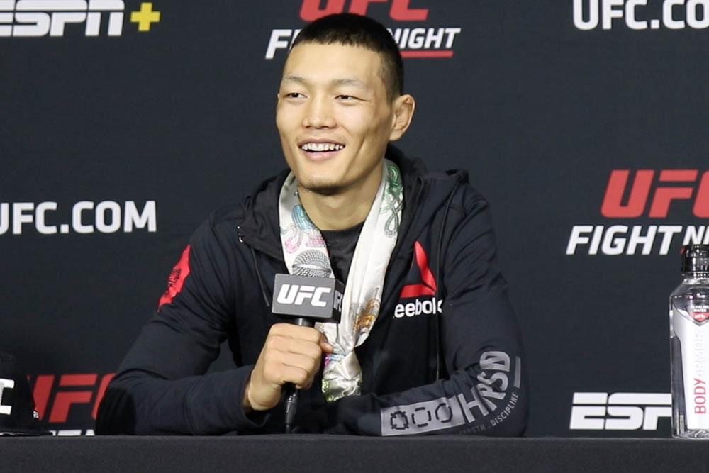 Su Mudaerji's 44-second KO has him wanting a quick turnaround   #UFCvegas14 #UFC255 #UFCFightnight #MMA #UFC