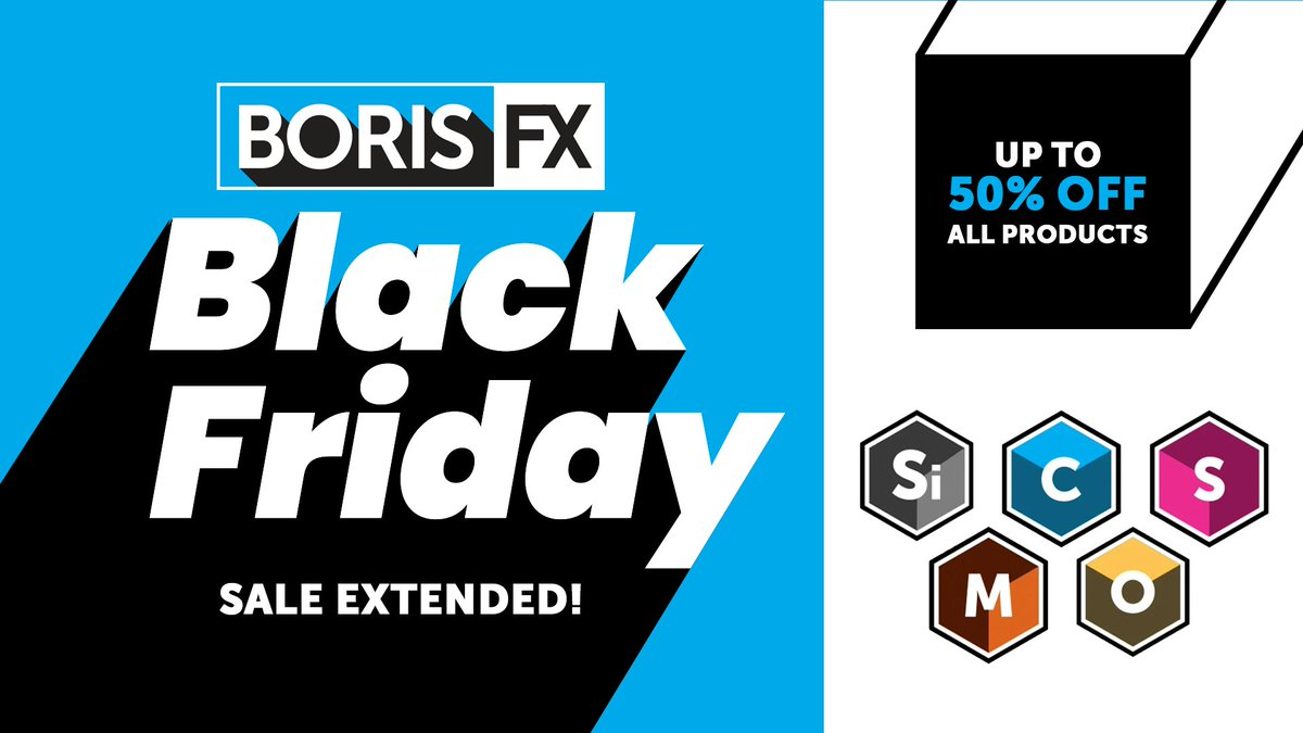 Up to 50% off award-winning #VFX plugins!  Extended til Friday, Dec 4, at midnight EST  You need the best tools, we've got 'em.  Buy Now! https://t.co/7copjxdAgO  Supports Adobe, Avid, OFX hosts.  #videoediting #mograph #blackfriday #postproduction #filmmaking #cybermonday https://t.co/tg2bwJg7JC