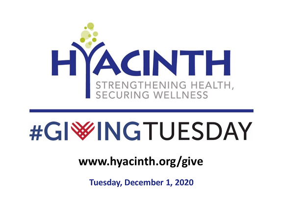 Today is #GivingTuesday and #WorldAIDSDay. Consider supporting Hyacinth. The Pandemic has changed the way we've delivered services and we have responded.   Any size donation will help us maintain our momentum and presence in the communities we serve.