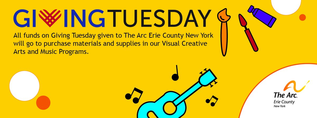 This #GivingTuesday, consider giving the gift of Art to hundreds of people supported by The Arc Erie County New York. Visit  for more details.