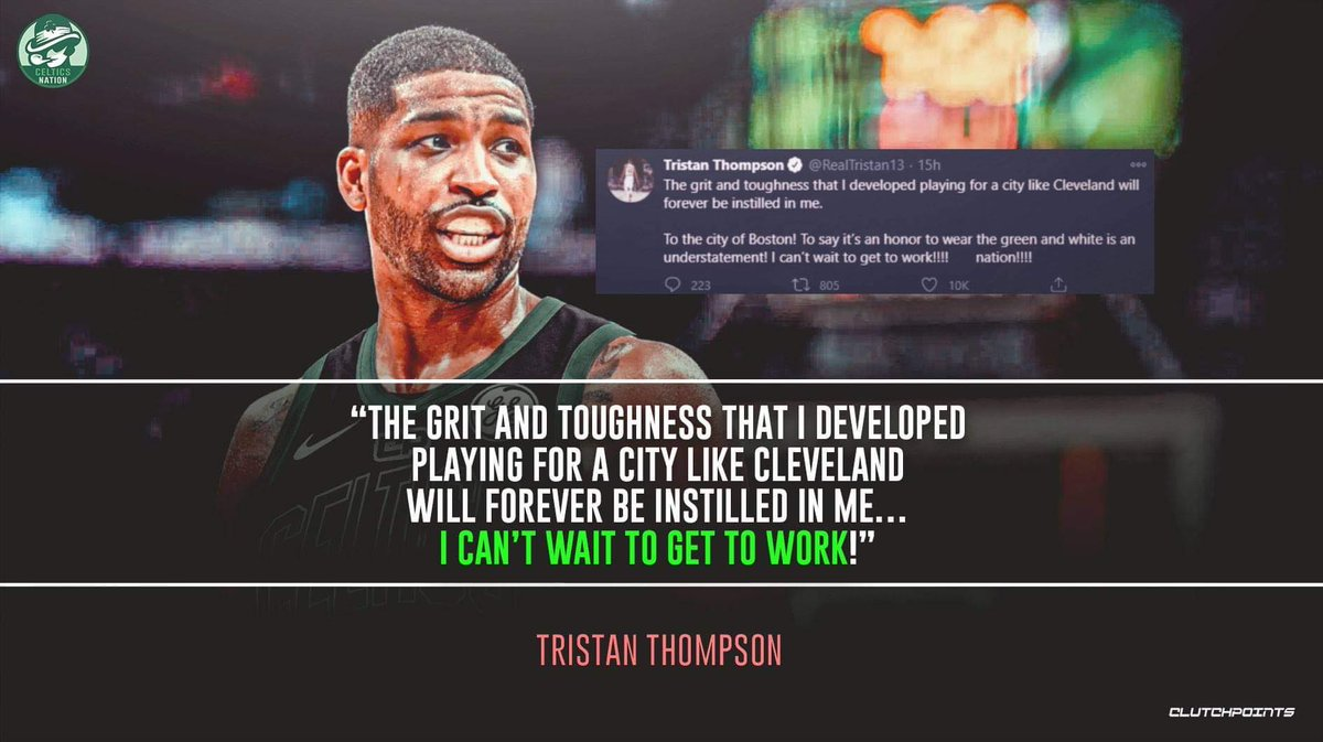 Tristan Thompson's work ethic will surely fit the Celtics' 💯 https://t.co/OmmPDzvlLU