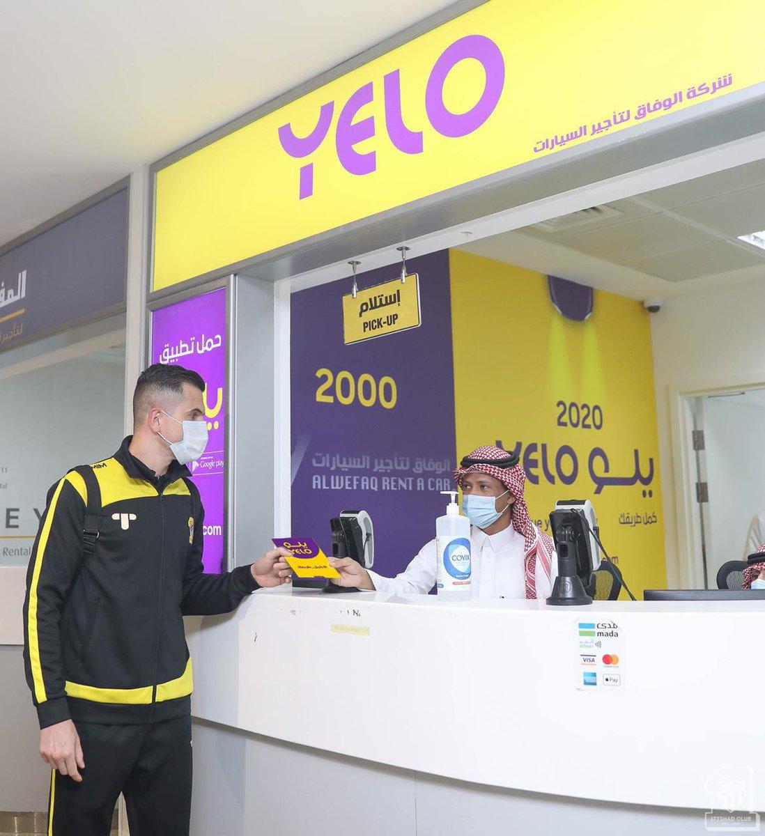 شريكنا @YeloDrive معانا في كل البطولات ومتواجدين في كل المطارات
