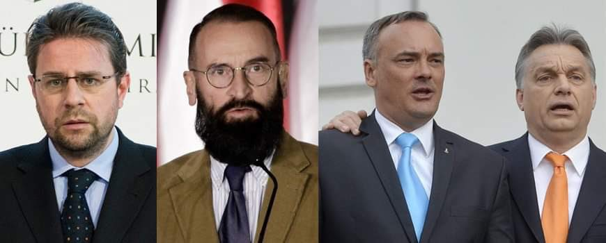 Recent sex scandals of Orbán's gov't, from left to right:  Gábor Kaleta, former MFA spokesman, Ambassador to Peru: arrested for child porn  József Szájer, MEP: busted in an illegal gangbang with men  Zsolt Borkai, mayor of Győr: taped during a gangbang with prostitues on a yacht https://t.co/oaabSo23WY