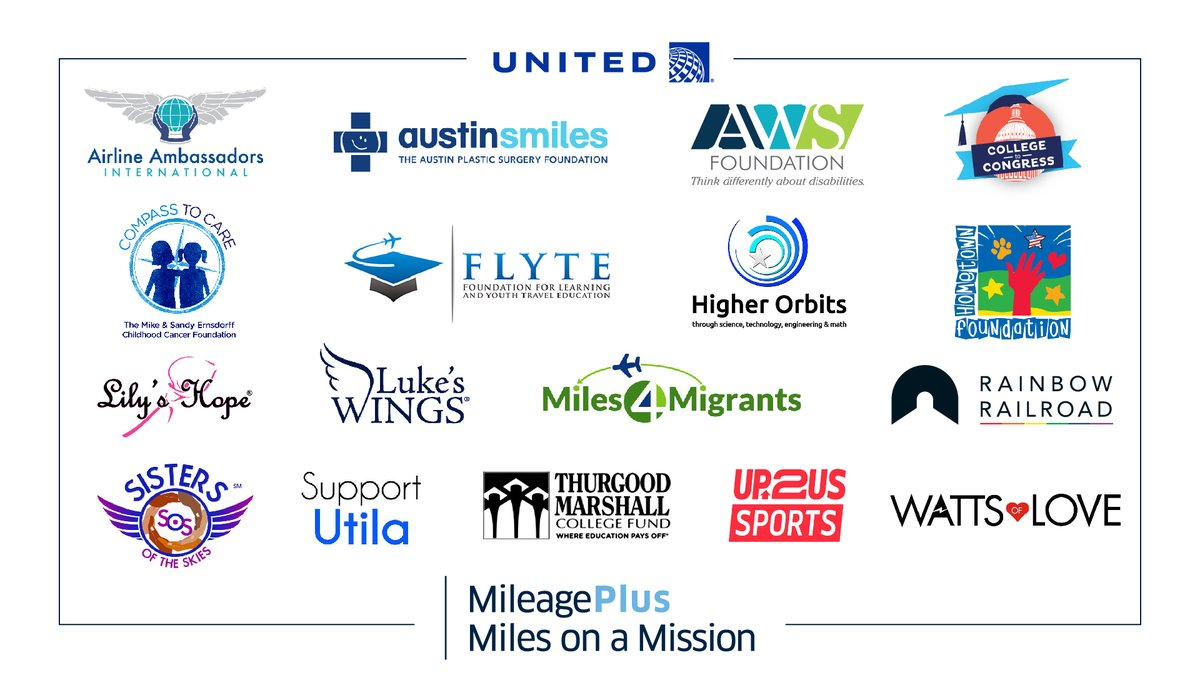 Each of our #MilesOnAMission partners has a different mission so you can choose to donate your miles to the cause you care about most.   Get to know the organizations and the work that they'll be able to do with your donations at  #GivingTuesday