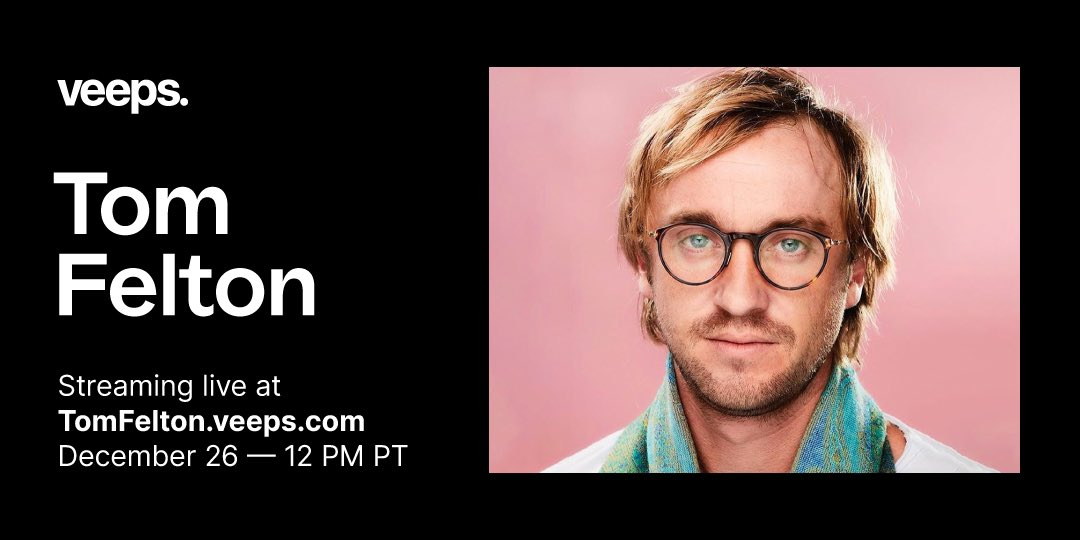 .@TomFelton and Willow are back on @Veeps, 12/26! Come celebrate the end of 2020 with an evening with of holiday fun, music, special guests & more! On sale now.