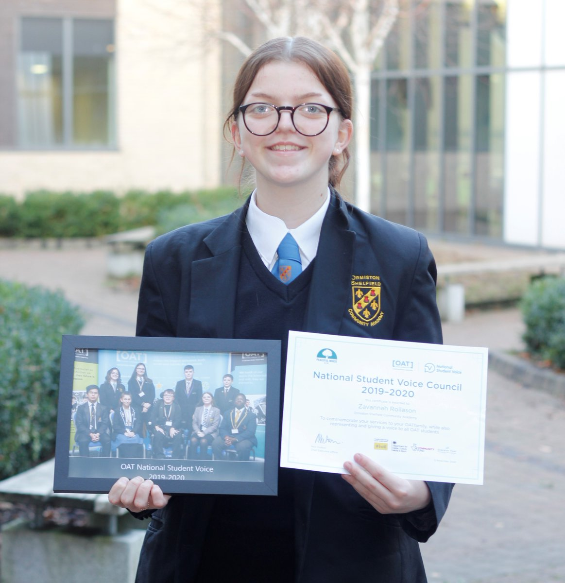 Another of our National Student Voice, Zavannah from @ShelfieldCA.💛 Working on an #iwill project to eradicate stigma & promote wellbeing for all OAT students, Zvannah really showed a passion for giving all of her peers a voice!  #iwillfund #iwillormiston #PowerOfYouth #OATfamily