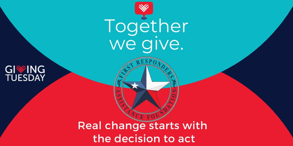 It's #GivingTuesday! Help us provide fund mental health resources for first responders! #fraftexas