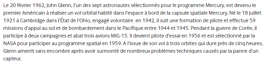 [#Hommage] > Hommage à #JohnGlenn  via @MuseeAirEspace #LaMethSci