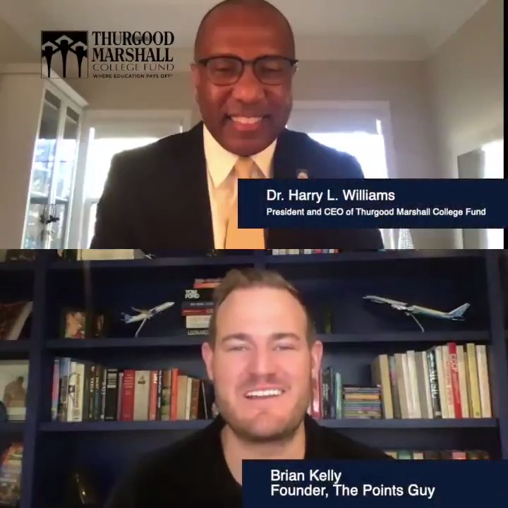 Listen to Dr. Harry Williams, CEO of @tmcf_hbcu (Thurgood Marshall College Fund) and @ThePointsGuy discuss the importance of supporting historically black college and universities and how your miles can help students.  #GivingTuesday