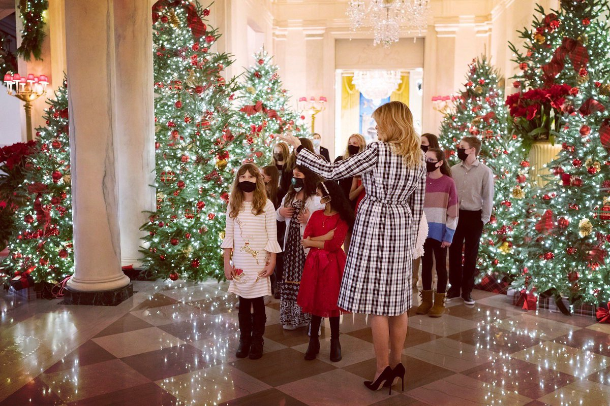 "What a joy to spend time w so many talented young artists as part of the @NatlParkService, @NationalParkFdn & @usedgov ""America Celebrates"" ornament display. You should be proud that your ornaments will be beautifully displayed here at the @WhiteHouse & @PresParkNPS. #WHChristmas"