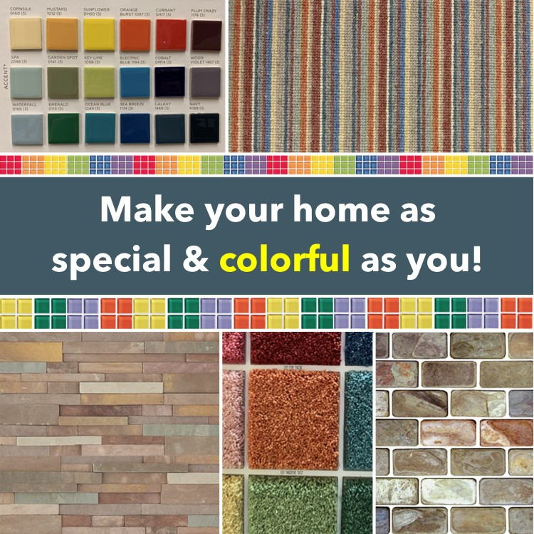 Make your home as special & colorful as you  Want to see our product samples? Just call 781-281-1793 Designer@HorizonInteriorsLLC.com  #kitchenandbath #kitchenandbathdesign #colorfulhome #color #rainbow #uniqueinteriors #yellowtile #orangetile https://t.co/haOfynluGB