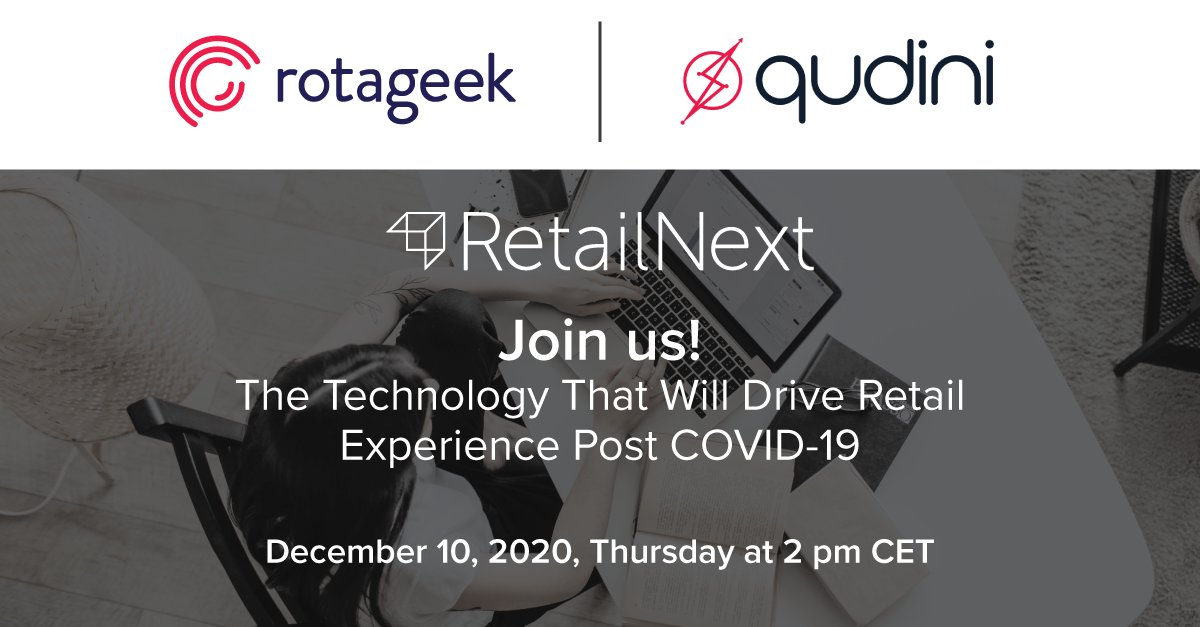 Join Rotageek, Qudini and RetailNext as they explore how the consumer expectation of brick-and-mortar retail has changed and accelerated as a result of #COVID19!  Sign up for free!  https://t.co/tGo9JFPg1s https://t.co/9TPdnZFdXP