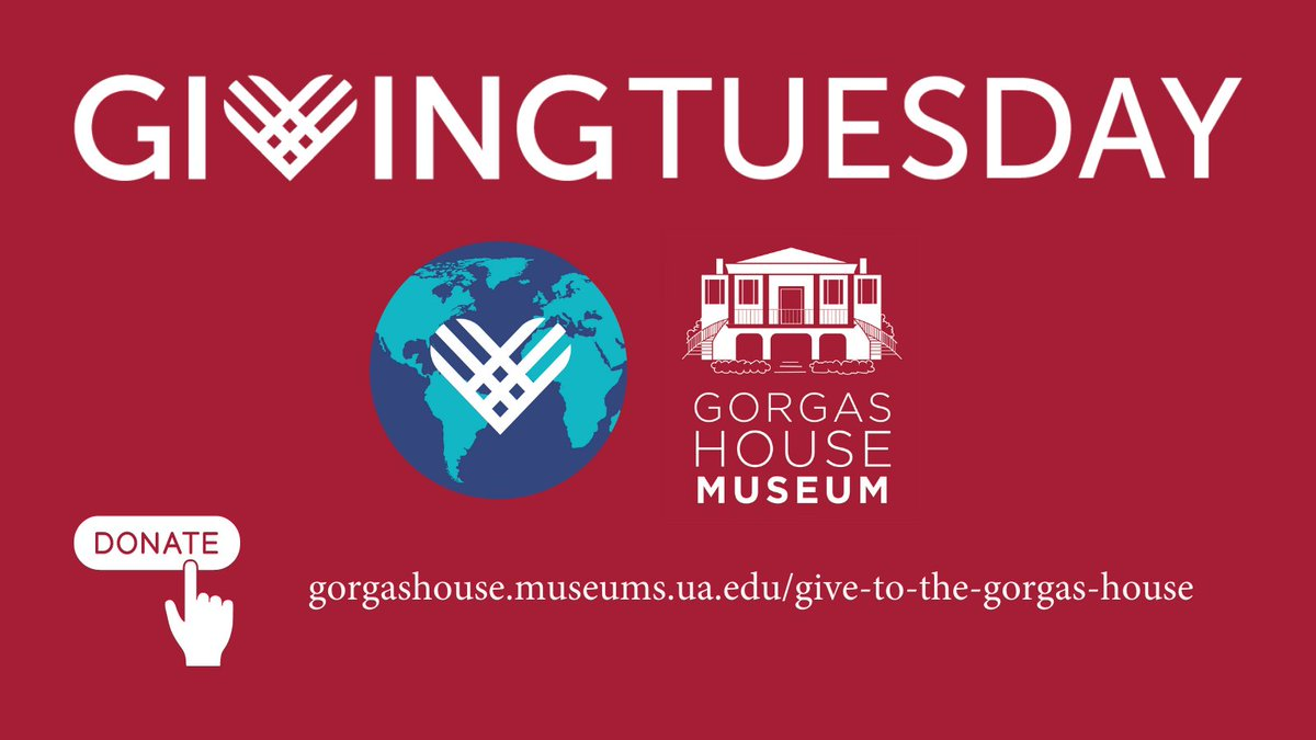 Today is #GivingTuesday, which means it's a great day to support @TheGorgasHouse, the oldest building on the @UofAlabama campus!  DONATE HERE: 🔗    #RollTide #RTR #Museum #Museums #HistoricHouse #History #Tuscaloosa #Alabama #TideTogether #TodayAtUA