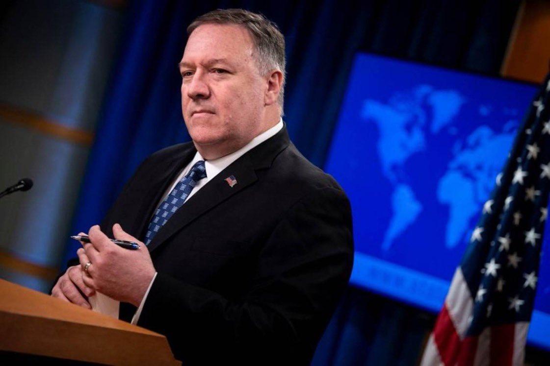 في كلمة وزير خارجية #أمريكا مايك #بومبيو في إطار الحوار الاستراتيجي مع #البحرين: نتعاون مع البحرين ضد الإرهاب.  العقوبات حرمت #إيران من تمويل الجماعات الإرهابية.