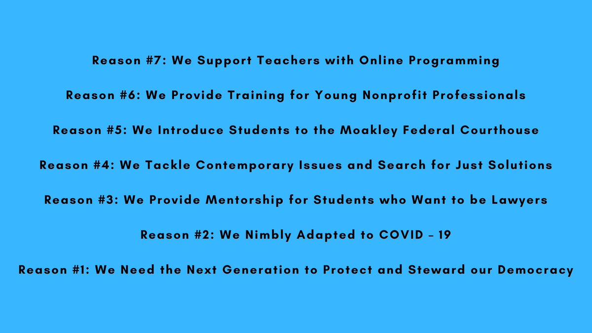 Please consider donating today to this amazing organization, which educates young students to embrace our democracy! https://t.co/6ajYWSprVh
