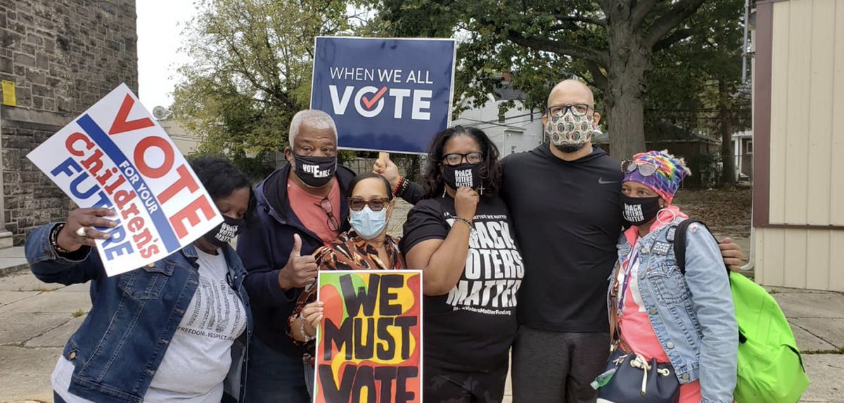 THREAD (3/5):  When We All Vote engaged and educated over 💯 million people about the voting process and encouraged them to make their voice heard.   That's almost ⅓ (!) of the United States population.