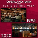 Image for the Tweet beginning: Overland Park Grill turns 25