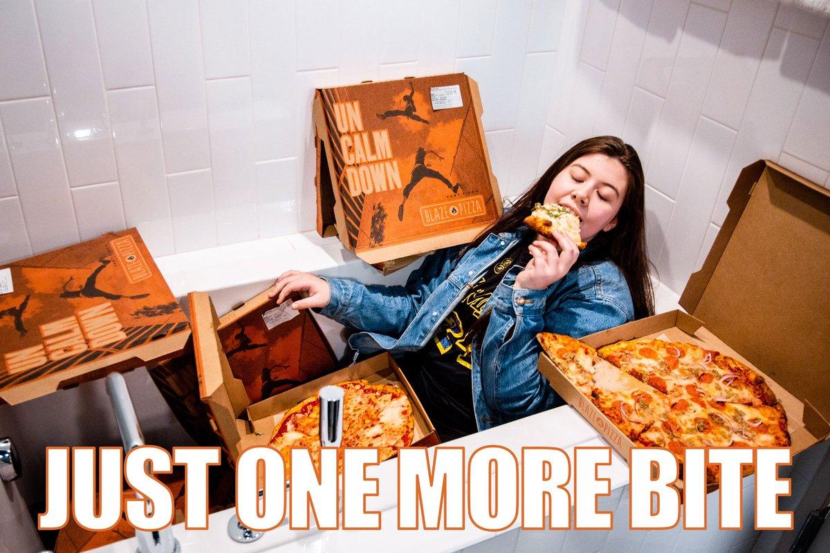 @BlazePizza Just one more bite! @BlazePizza 🙏🛀🔥🍕