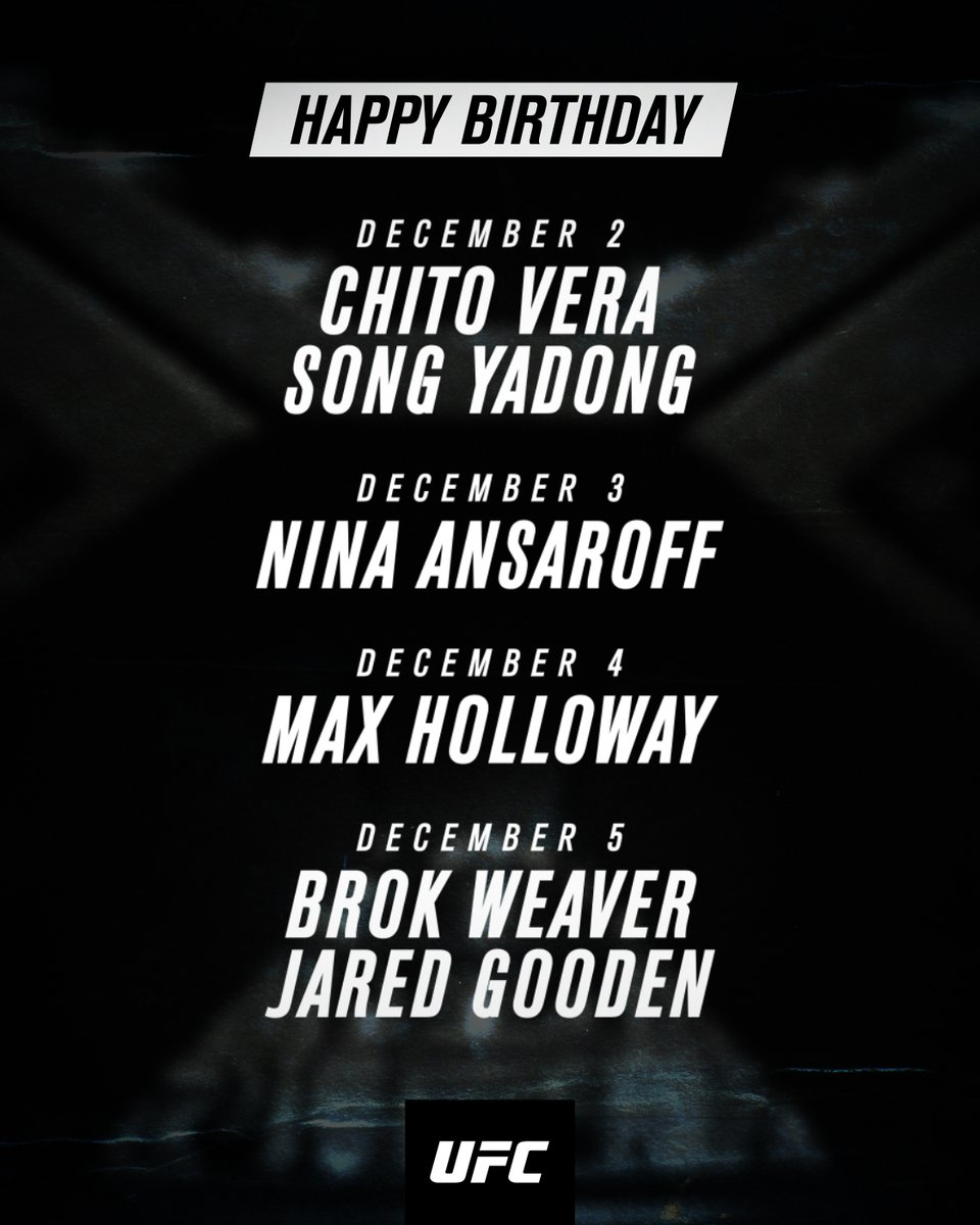 Time to celebrate 🥳 Help us wish these UFC athletes a very Happy Birthday this week! https://t.co/CSCnyhnDD4