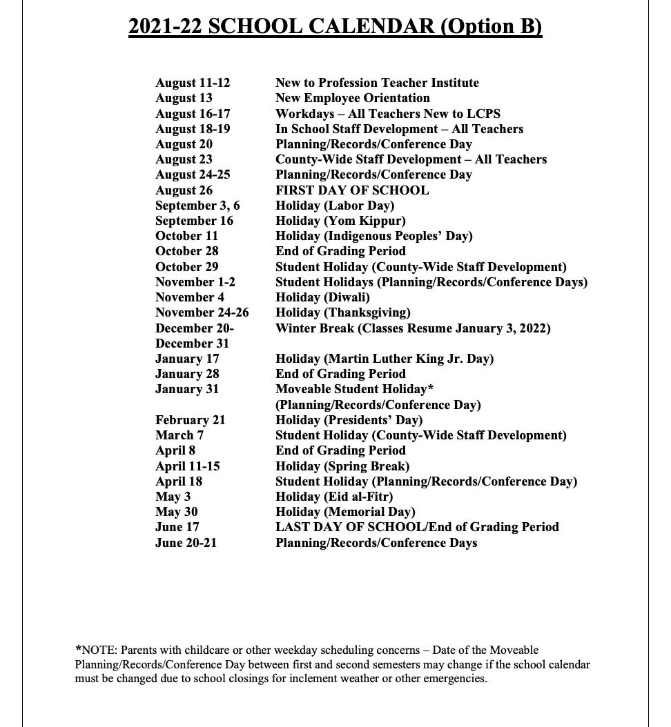 Lcps Calendar 2021-2022 LCPS Athletics (@lcpsathletics) | Twitter