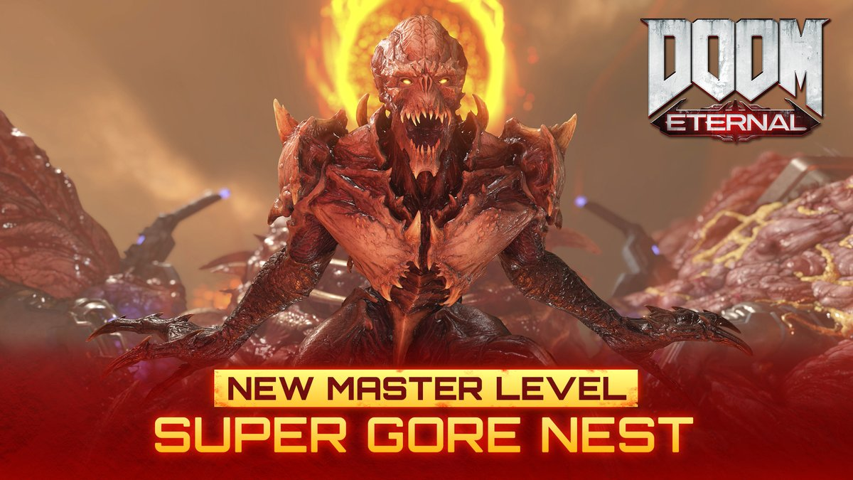 Turn it up to 11.  Master the SUPER GORE NEST and more in the latest update to DOOM Eternal: