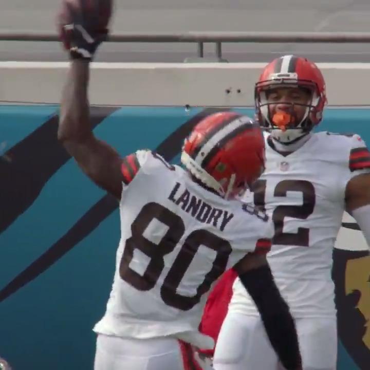 """🗣 """"Landry caught it! TOUCHDOWN!""""   @God_Son80 + #ProBowlVote"""