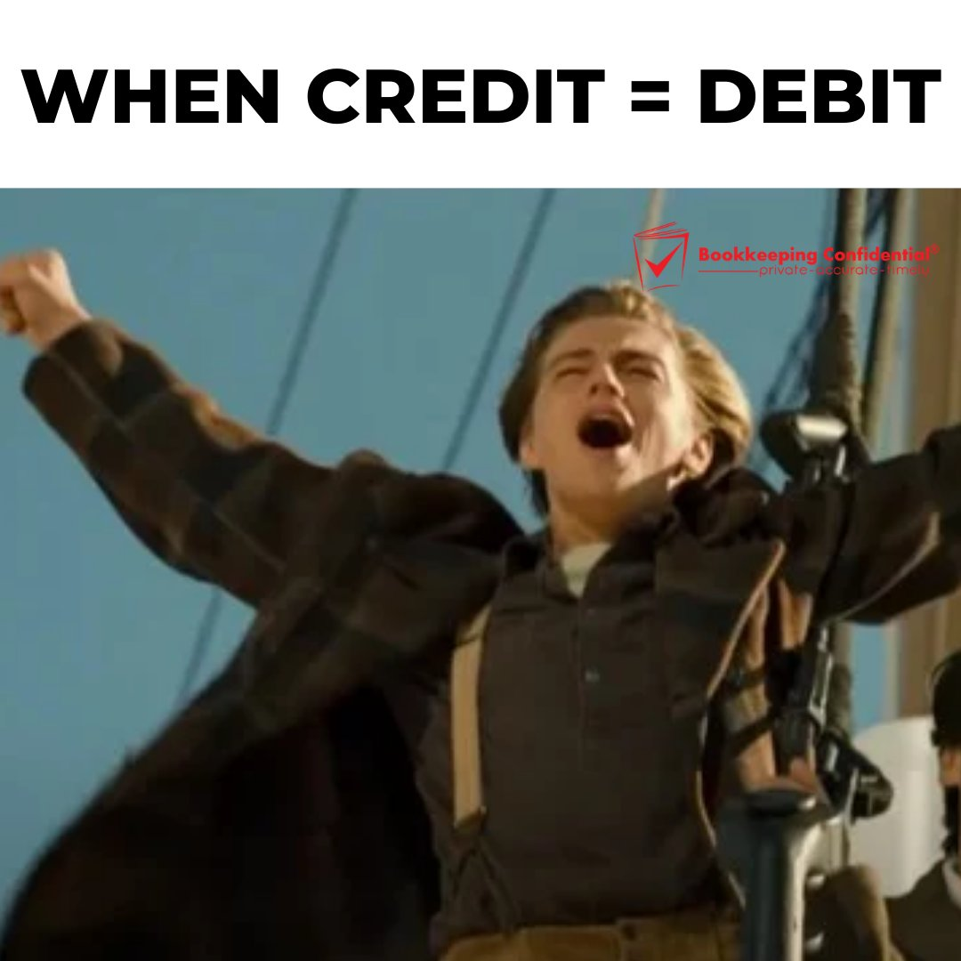 The feeling you get when your account is balanced. #debit #credit #happy #bookkeeping #BookkeepingConfidential #tgif #FridayFun #FridayFeeling https://t.co/smvvW2vNjm