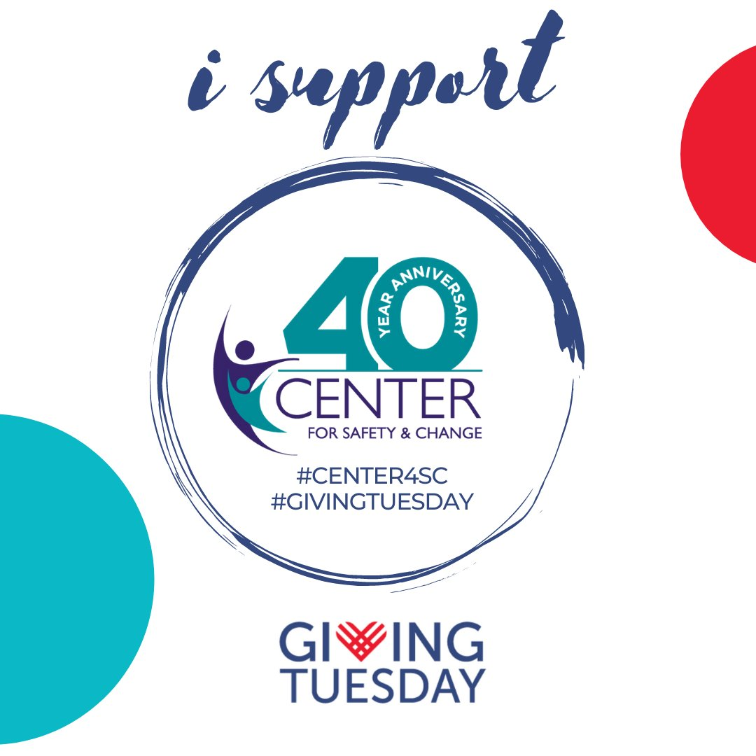 Thank you for your support on this #GivingTuesday! Help us finish out the day strong. Share your support of Center for Safety & Change by sharing this post and #UnleashGenerosity. Every gift we receive is significant in funding our efforts:  #center4sc
