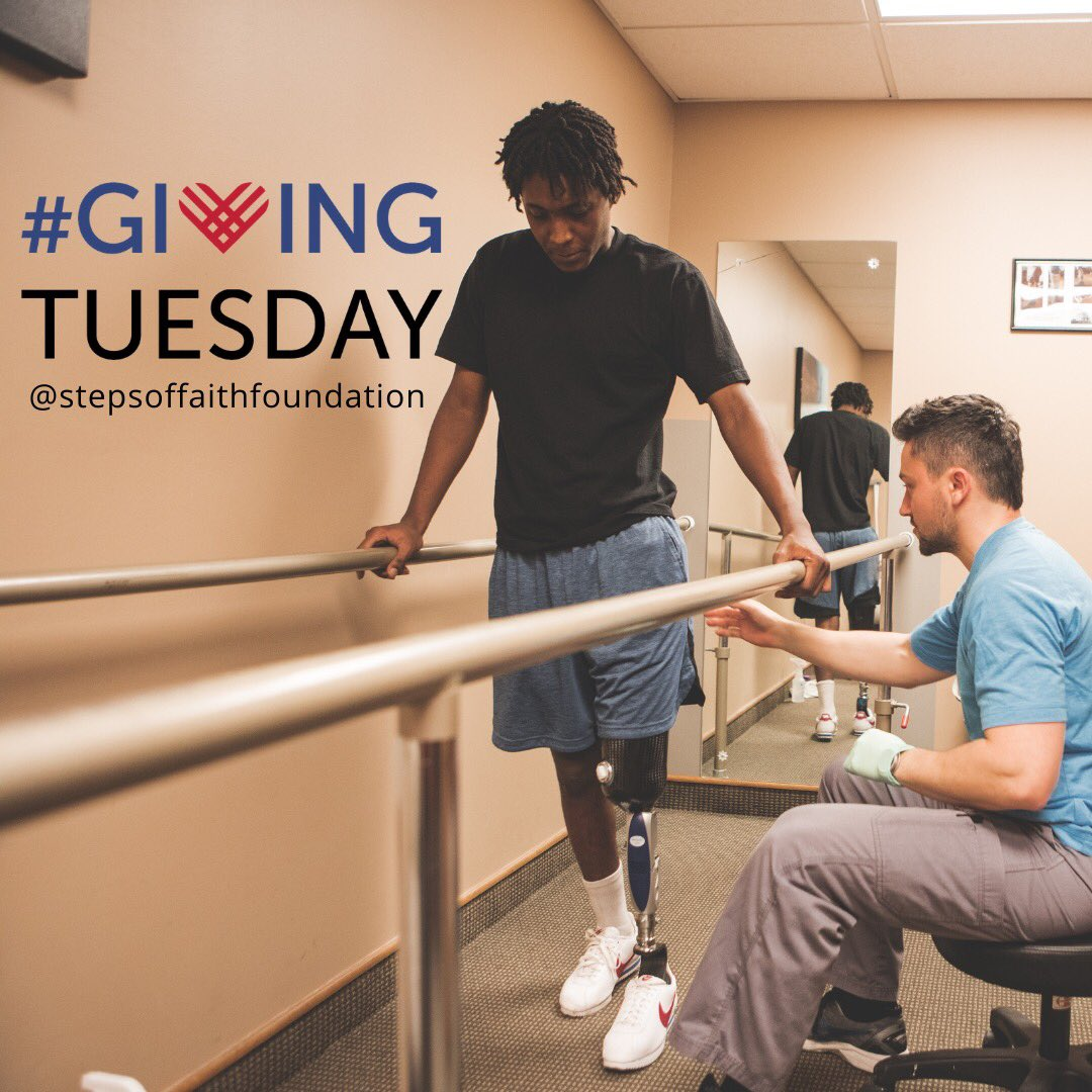 Join @cactusmoser and I in supporting @movingamputees on this #givingtuesday! Your donation will help #givesteps and HOPE to amputees in need. 💙 Visit  for more info!
