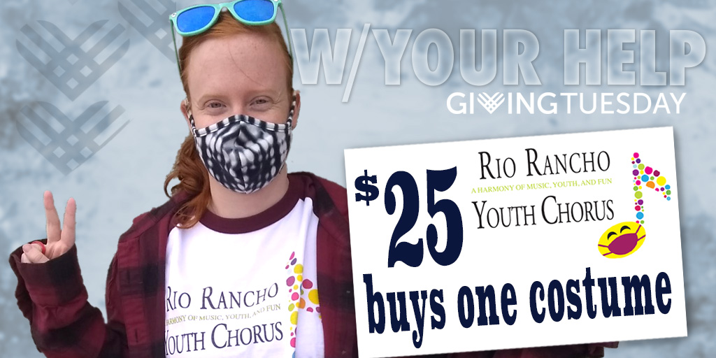 Don't let them go naked!  (haha!) Support local arts and youth. Your help keeps us out of trouble - please click on the donate link:  #RioRanchoGives #GiveLocal #LiveGenerously #UnleashGenerosity #GivingTuesday