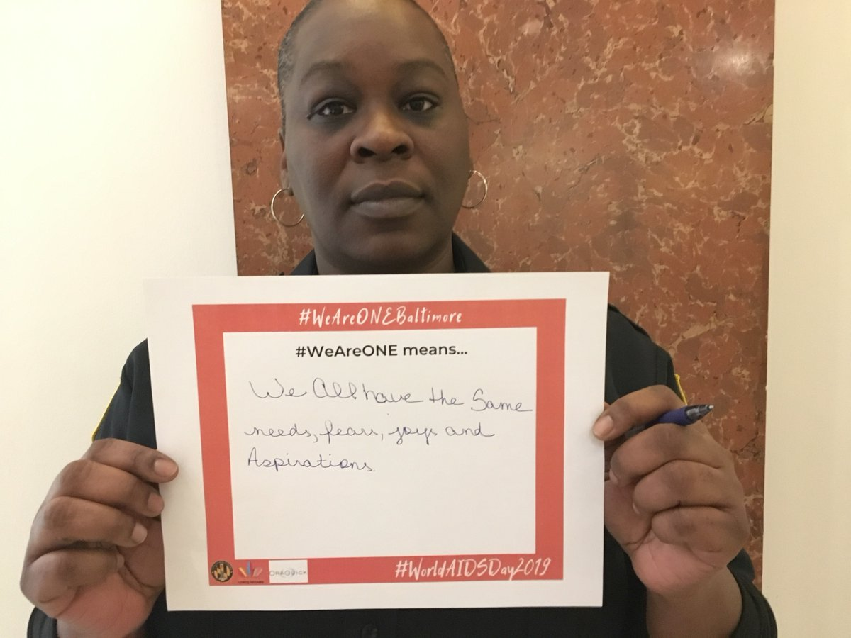 "#WAD2019's theme was #WeAreOne. We asked attendees at our World AIDS Day reception last year to answer what this means to them.  #WeAreOne means... ""we all have the same needs, joys, fears and aspirations."""