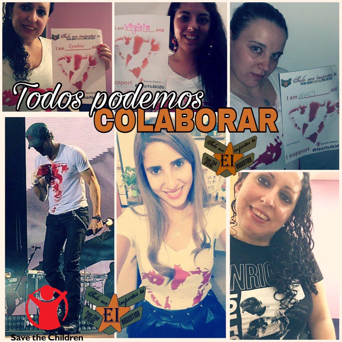 @enriqueiglesias te amo!! super orgullosa de ser tu fan y colaborar con  @SavetheChildren con las chicas de @smeimportastu 😍🌈🇦🇷