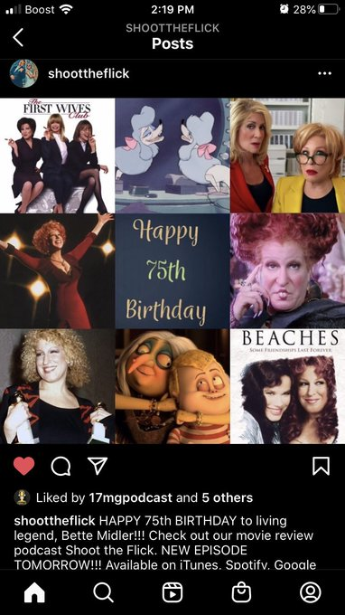 Happy 75th birthday to the legend Bette Midler !!