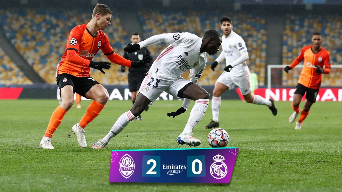 🏁 FP: @FCShakhtar 2-0 @RealMadrid ⚽ Dentinho 57', Solomon 82' #Emirates | #RMUCL