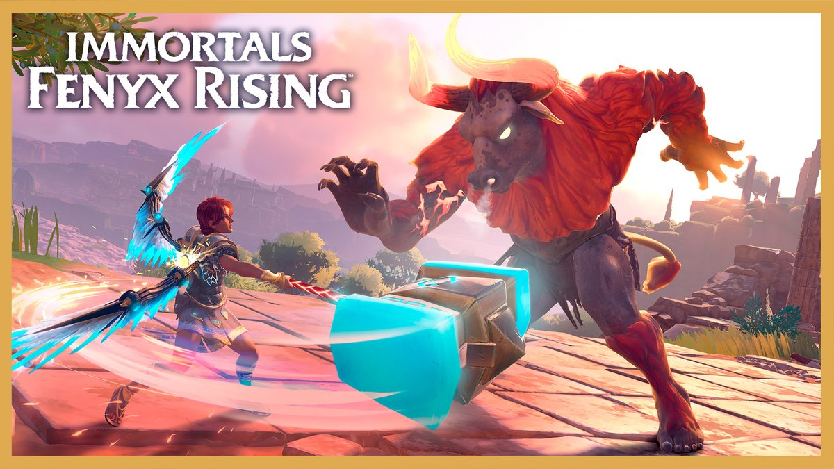 How do you beat a minotaur? Don't let them hit you.  Myths come alive in Immortals Fenyx Rising: