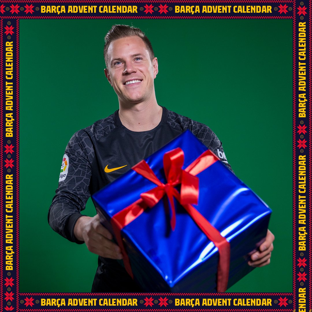 🎄 The countdown for the holiday season has begun, and who better to start the #24daysofjoy with than our number 1️⃣ @mterstegen1! 🎁 Visit @RakutenSports' holiday page and play each day for a chance to win different prizes 👇 🔗