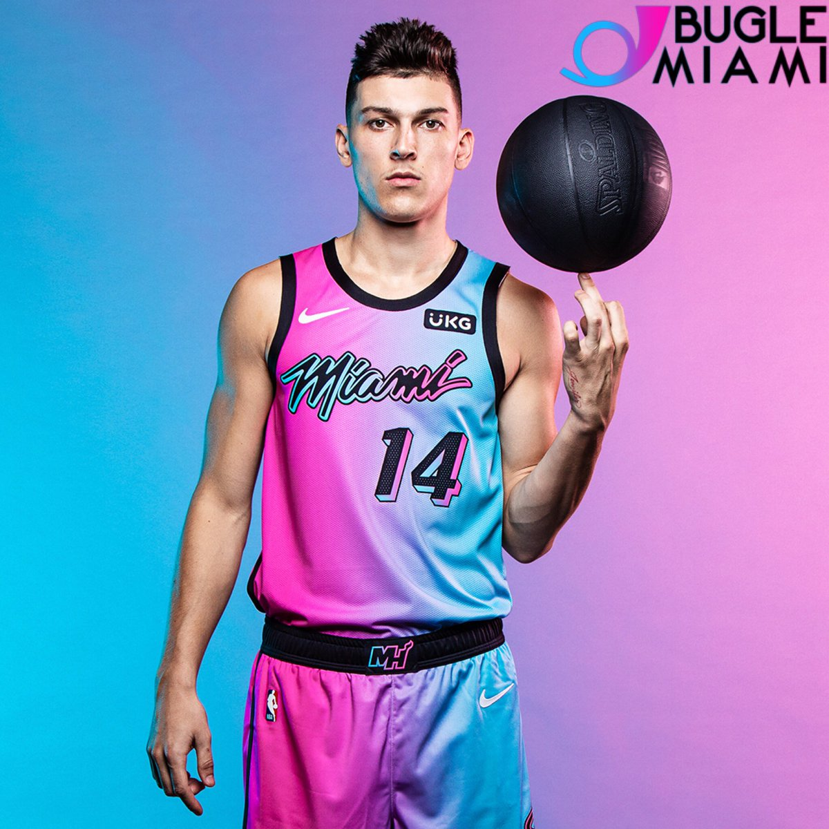Nuevo uniforme del @MiamiHEAT para la temporada 2020-21.   Muy Bugle 🔥🤩  #BugleMiami #Miami #MiamiHeat #heatculture #sport #sportnews #news #localnews https://t.co/NSqeShIEPn