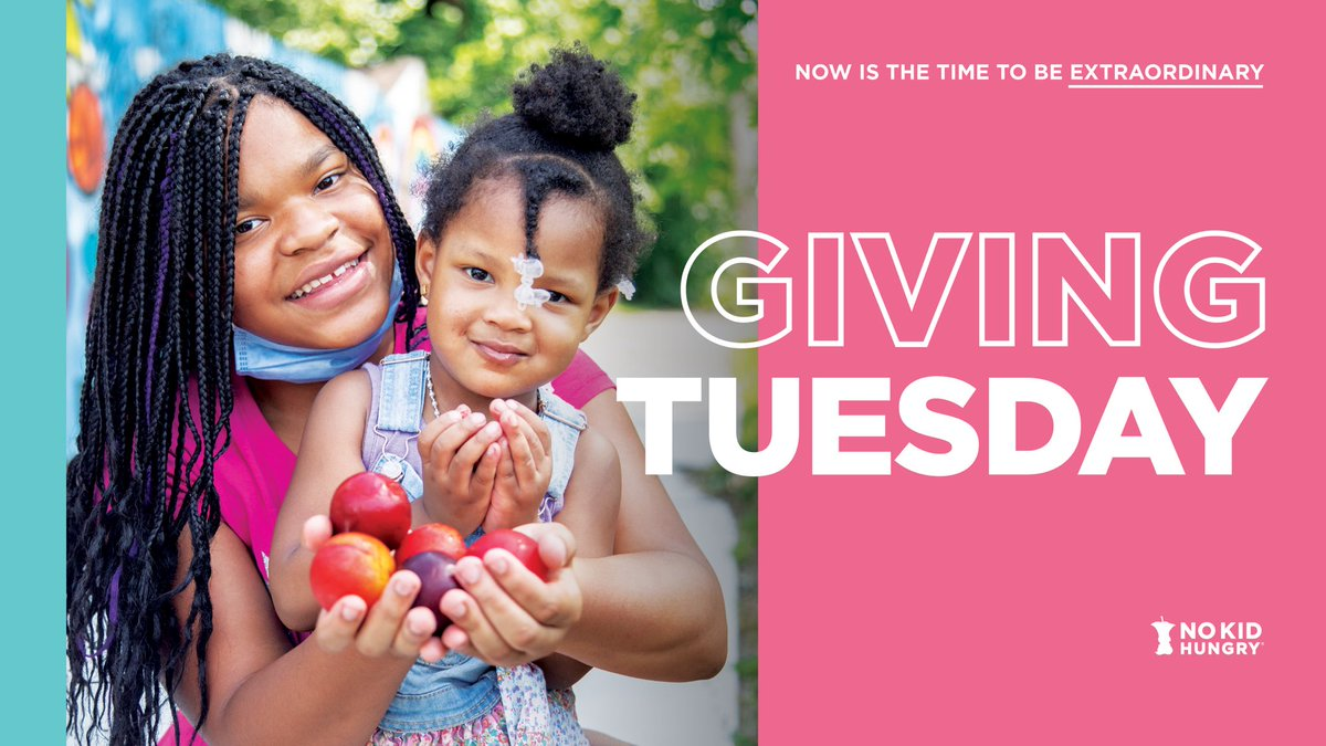 Hungry kids in the U.S. are facing extraordinary challenges. You can make all the difference. This #GivingTuesday join me in supporting @NoKidHungry and show #ExtraordinaryGenerosity towards hungry kids across the country. Donate now: