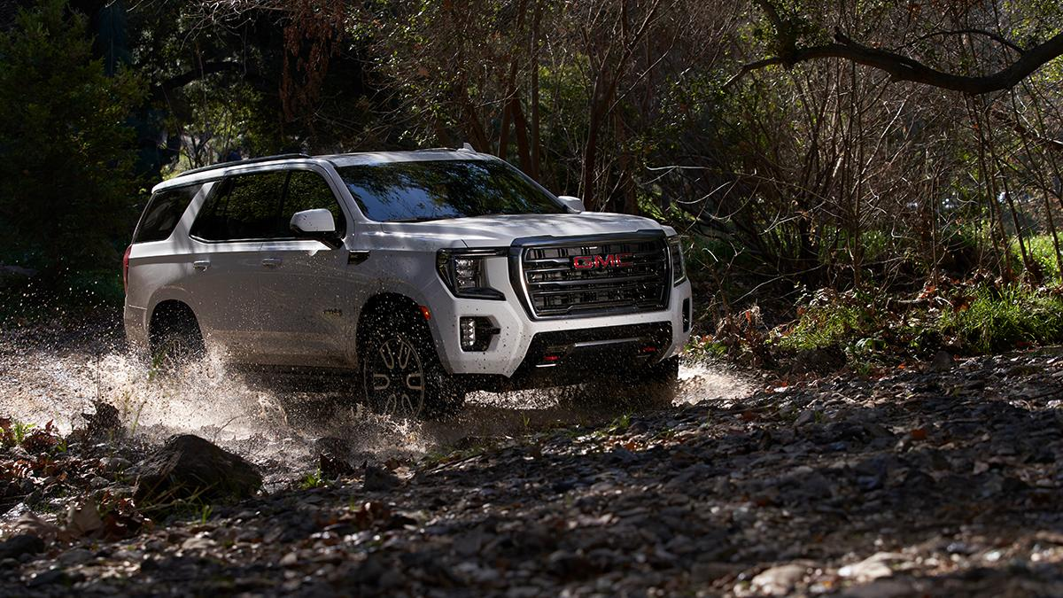 Now that's how you make a big splash. First Ever #GMCYukon #AT4. s.gmc.com/5ksmw