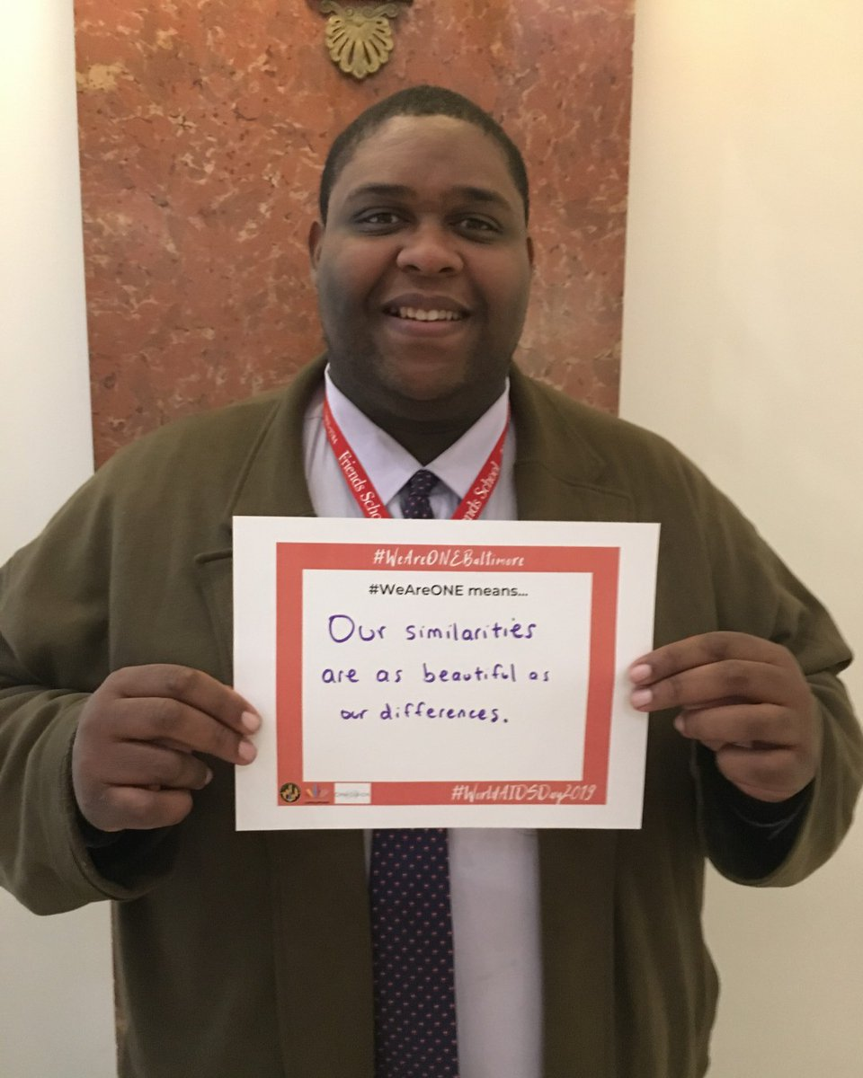 "#WAD2019's theme was #WeAreOne. We asked attendees at our World AIDS Day reception last year to answer what this means to them.  Our Director, Jabari Lyles says #WeAreOne means... ""our similarities are as beautiful as our differences."""