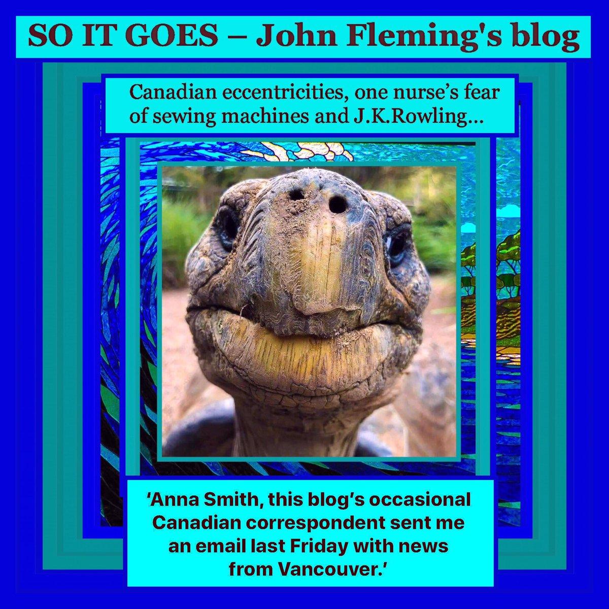 Canadian eccentricities, one nurse's fear of sewing machines J.K.Rowling & #AnnaSmith.  #thejohnfleming #blog   #nyc #bronx #manhattan #statensland #queens #brooklyn #washingtondc #washingtonstate #harlem #california #losangeles #sanfrancisco #london #uk  https://t.co/YKYDjThHv7 https://t.co/GPJTtdVoph