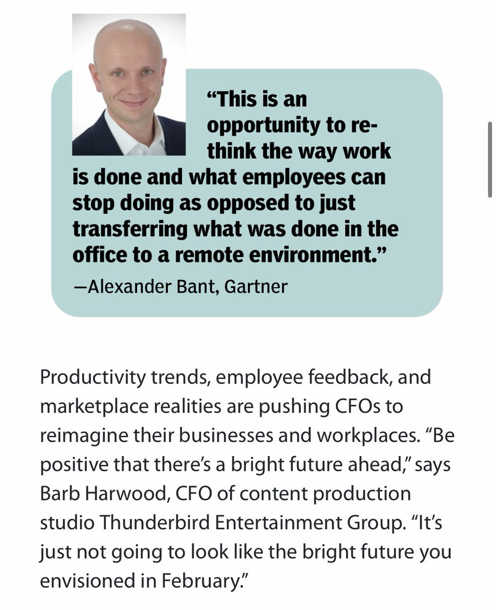 Leaders should rethink the way we work and focus on what we DON'T need to bring back to the office in 2021 #work #Productivity #CFO #goals #business #leadership  https://t.co/ZEcxXkr5ce https://t.co/NwSiCKKadG