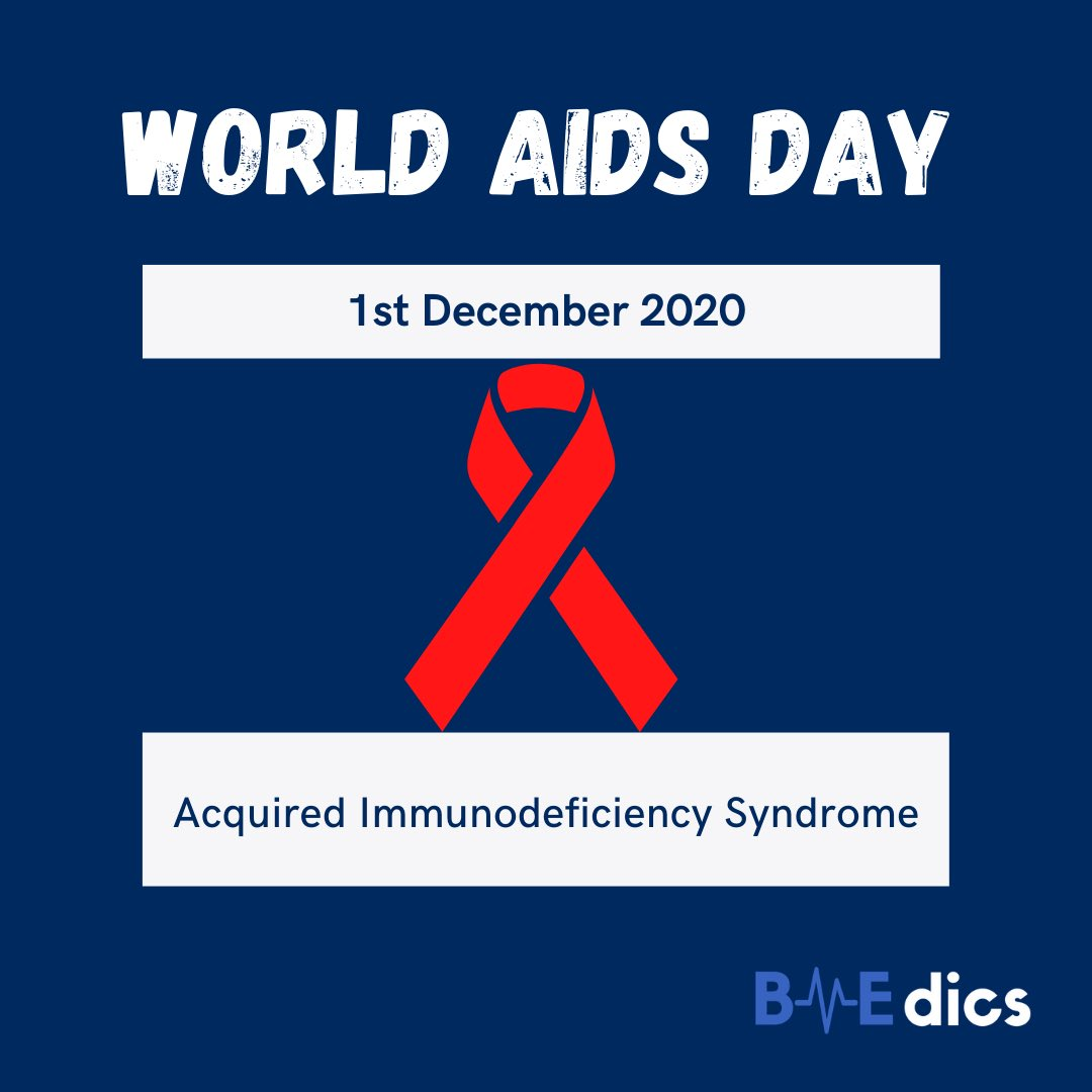 WORLD AIDS DAY  1st December is World AIDS Day, dedicated to de-stigmatising and raising awareness of AIDS, late stage HIV infection.   #WorldAIDSDay #BAME #BMEMedics #HIV #undetectableequalsuntransmittable