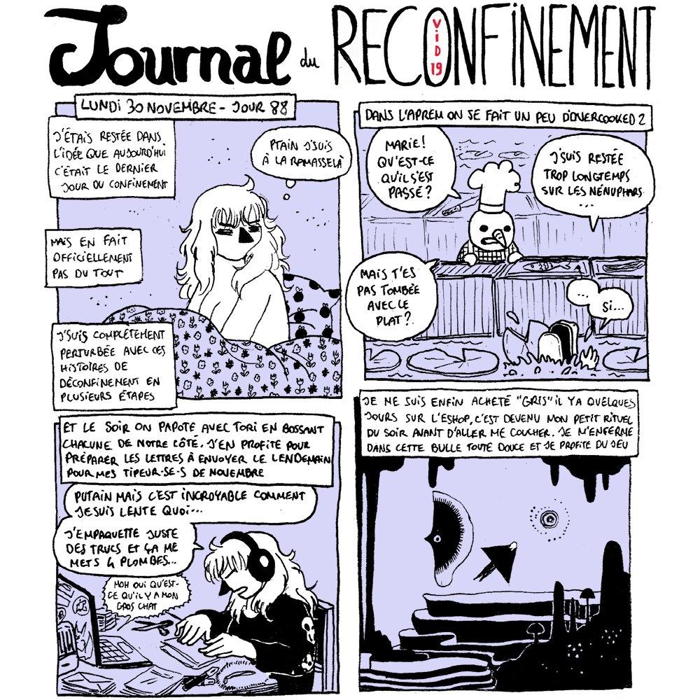 🏙️ Journal du ReCo(vid19)nfinement ✍️ Jour 88 🐠 cc @Badbloody1 @Tori_Cleia #RestezChezVous #RestezAlaMaison #Covid19 #Covid_19 #Reconfinement #Confinement2 #ConfinementSaison2 #Confinement #Overcooked2 #Gris