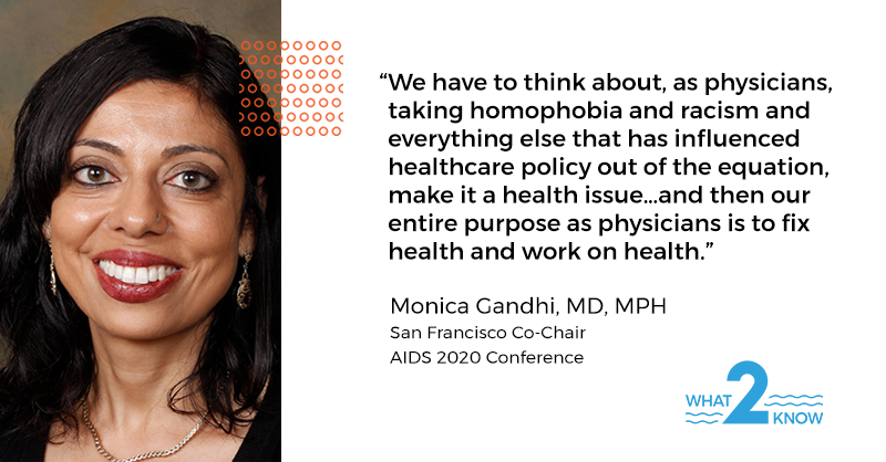 This #WorldAIDSDay, we encourage you to listen to #What2Know episodes with Dr. @MonicaGandhi9, SF Co-Chair for #AIDS2020Virtual & Cynthia Carey-Grant, Oakland Co-Chair for #AIDS2020Virtual. 👇#client   Dr. Gandhi's ep:  Cynthia's ep: