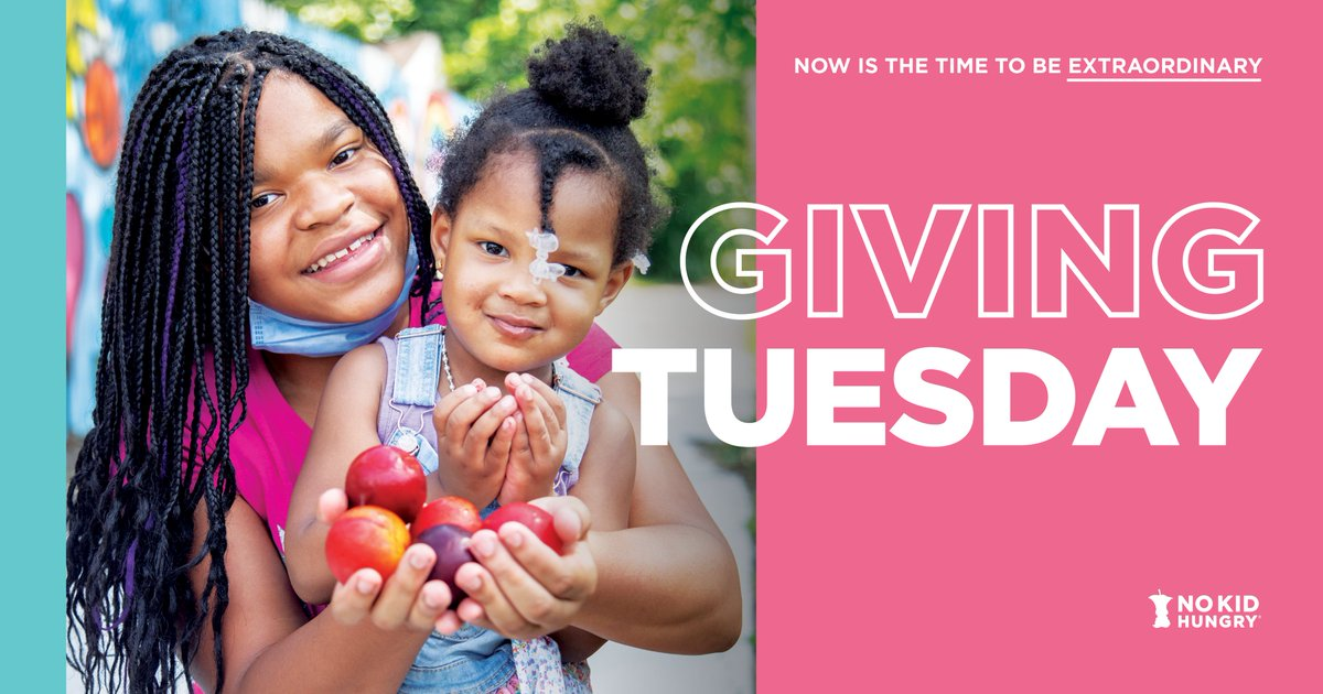 Hungry kids depend on #ExtraordinaryGenerosity to get the food they need to thrive. This #GivingTuesday, we can all help hungry children get critical meals. Join me in donating to @nokidhungry today: