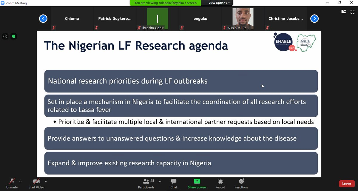 Today, we joined the launch of the Nigeria Lassa fever Epidemiological(NiLE) Study supported by @CEPIvaccines Enable programme & coordinated by the Nigeria Lassa Fever Research Consortium. The NiLe study is a 2-year epidemiological study for Lassa fever in Nigeria.