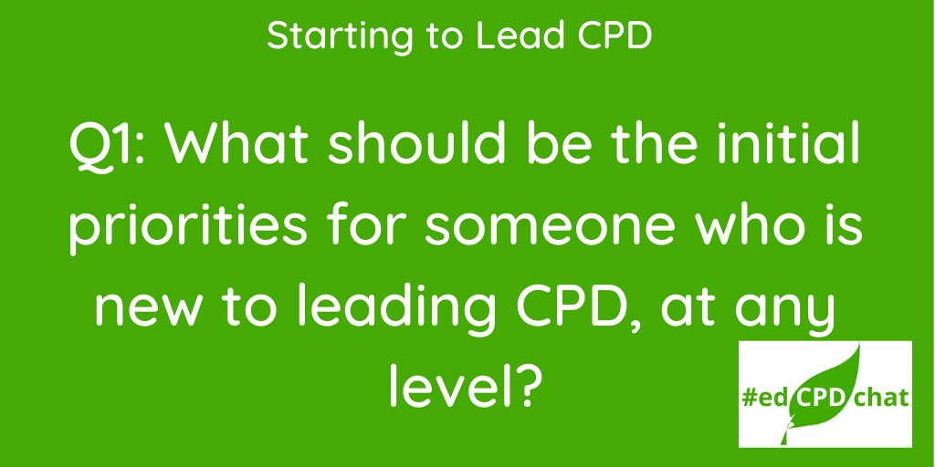Q1 for #edCPDchat this evening. Please don't forget the hashtag when you respond 👍