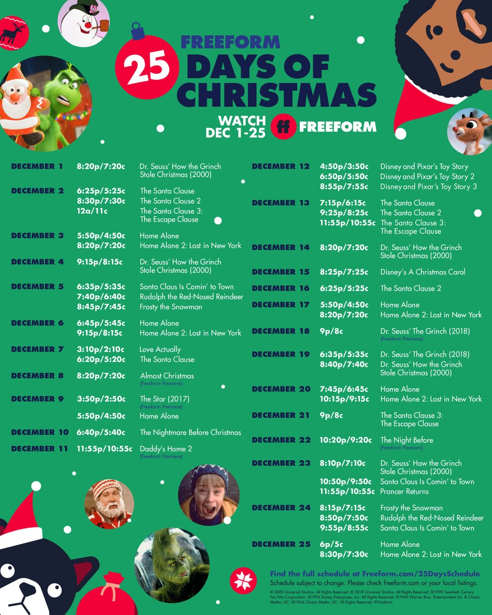 We're in full Christmas mode. @25Days of Christmas begins today on @FreeformTV. #25DaysOfChristmas