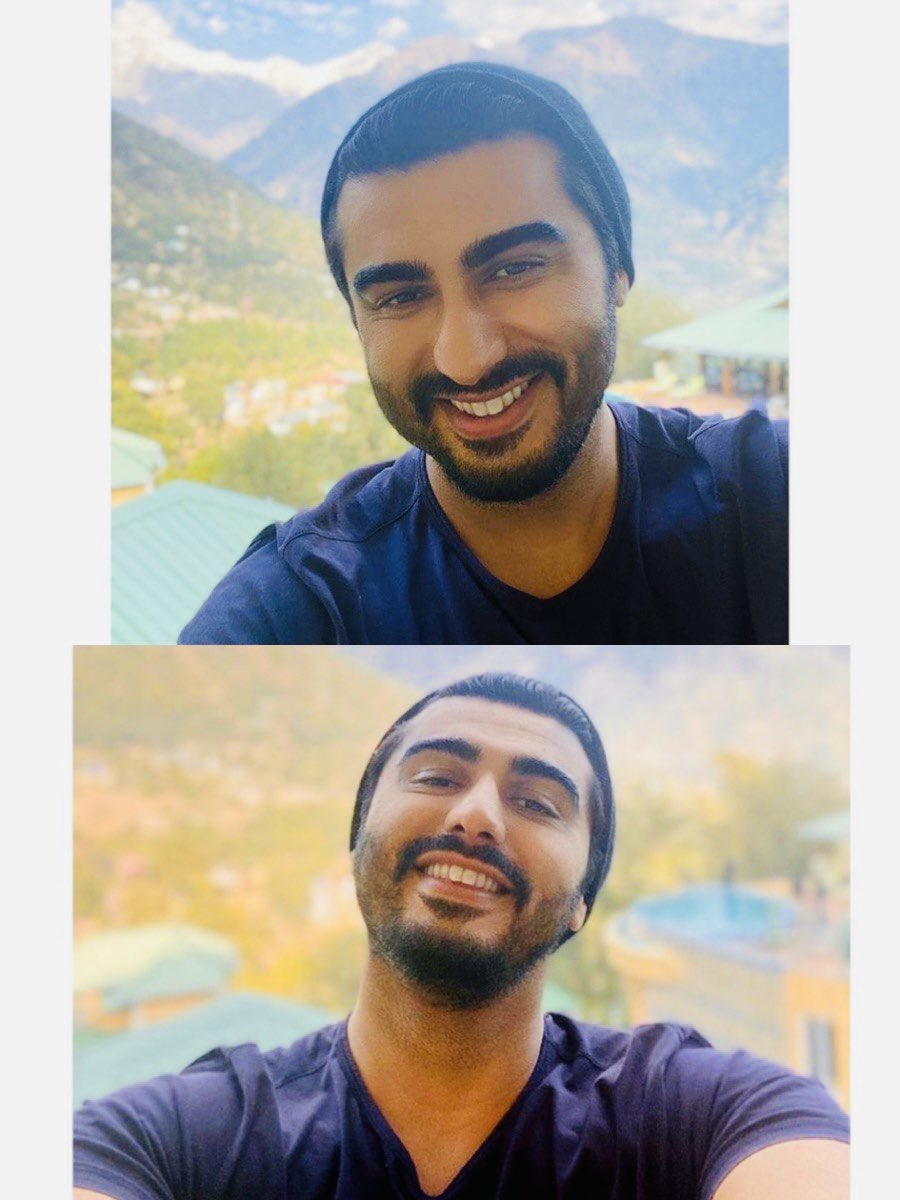 Selfie 🤳 of the Month 🌟 @arjunk26 Tks for this #December present 🎁  May ur #December1st s amazing with a working day with night shoot for #BhootPolice ✨ Himachal the beauty 💞 #Palampur #Hp